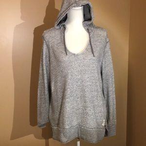 H&M hoodie gray sz L- label of graded goods